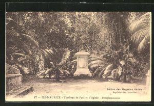 AK Maurice, Tombeau de Paul et Virginie, Pamplemousses, Edition des Magasins Reunis