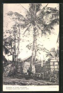 AK Mauritius, Cocoanut palm and native huts