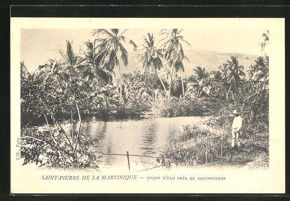 AK Saint Pierre, Saint Pierre de la Martinique, Cours d'eau pres de Saint Pierre
