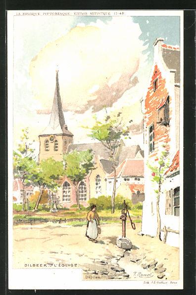 Künstler-AK Dilbeek, L'Eglise