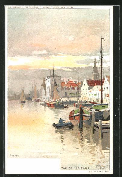 Künstler-AK Tamise, Le Port
