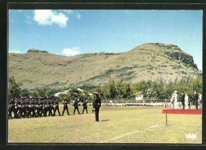 AK Port-Louis, Review at the Central Barracks