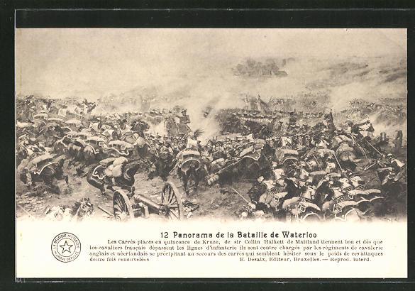AK 12. Panorama der Schlacht von Waterloo, Befreiungskriege