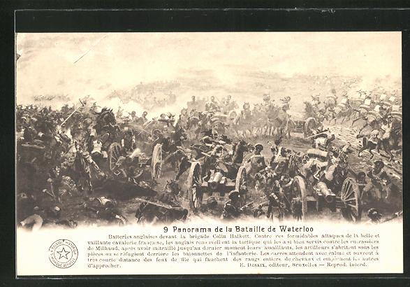 AK 9. Panorama der Schlacht von Waterloo, Befreiungskriege