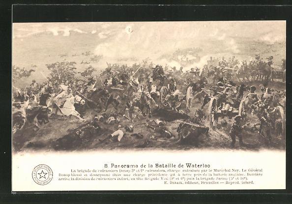 AK 8. Panorama der Schlacht von Waterloo, Befreiungskriege