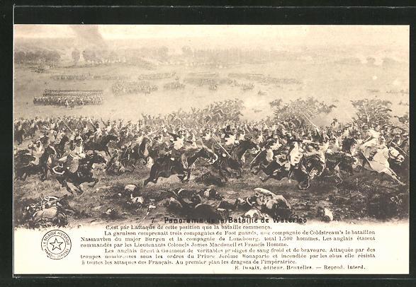 AK 7. Panorama der Schlacht von Waterloo, Befreiungskriege