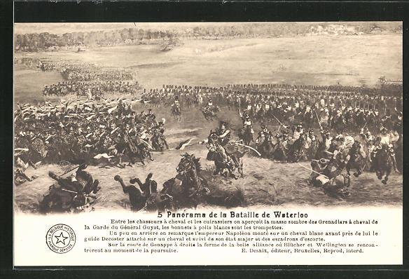 AK 5. Panorama der Schlacht von Waterloo, Befreiungskriege