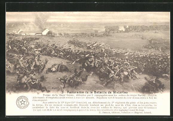 AK 3. Panorama der Schlacht von Waterloo, Befreiungskriege