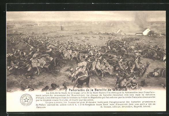 AK 2. Panorama der Schlacht von Waterloo, Befreiungskriege