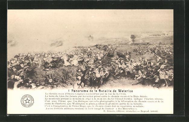 AK 1. Panorama der Schlacht von Waterloo, Befreiungskriege