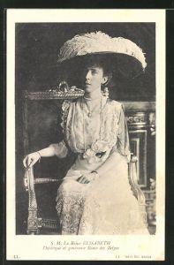AK S. M. La Reine Elisabeth, L'heroique et genereuse Reine des Belges