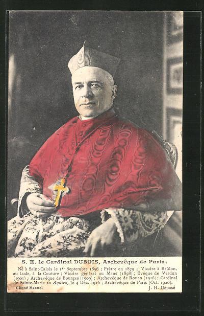 AK S. E. le Cardinal Dubois, Archeveque de Paris