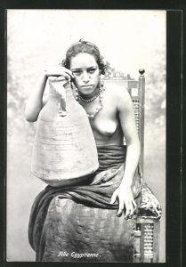 AK Fille Egyptienne, arabische nackte Frau