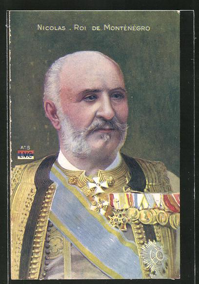 AK Portrait Nicolas Roi de Montenegro