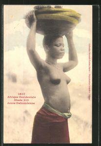 AK 1607 Afrique Occidentale Etude 210 Jeune Dahomeenne, afrikanische nackte Frau