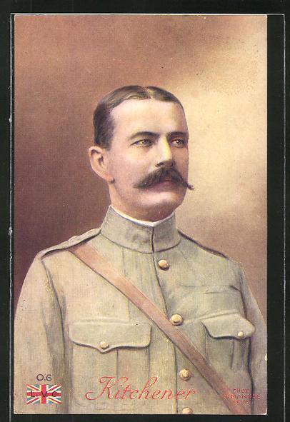 AK Le Goulois, Kitchener, Portrait des britischen Heerführers im Burenkrieg