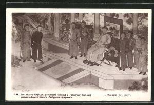 AK Kirgisistan, Les Kazaks-Kirghizes présentant le tribut à l'empereur Kien-long