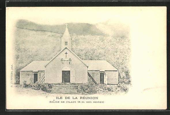 AK Ile de la Réunion, Église de Cilaos