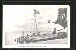 AK Timor, Lancamento ao mar da cutter