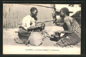 AK Zambèze, La salutation indigène, 1er mouvement