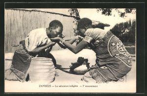 AK Zambèze, La salutation indigène, 3e mouvement