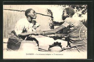 AK Zambèze, La salutation indigène, 2e mouvement