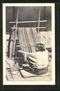 AK Bhutan, A Bhutia Woman Weaving