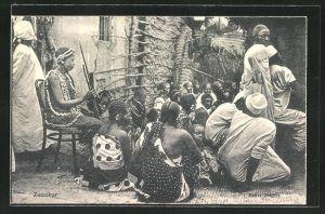 AK Zanzibar, Native Singers, Eingeborene beim Gesang