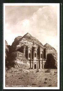 AK Transjourdanie, Petra, Am Tempel