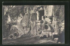 AK Jordanien, Petra, el Barid: Facade of