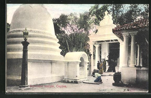 AK Sri-Lanka-Ceylon, Buddhist temple