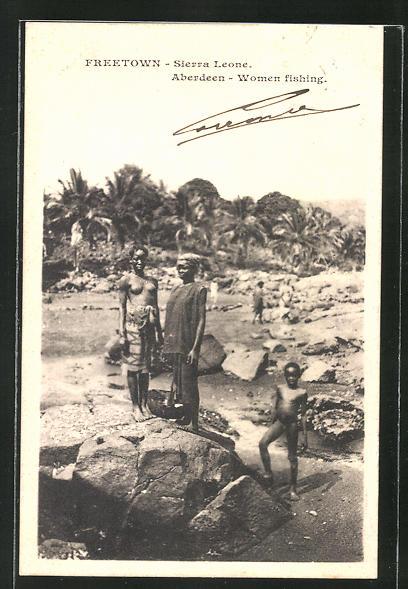 AK Freetown, Aberdeen-Woman fishing