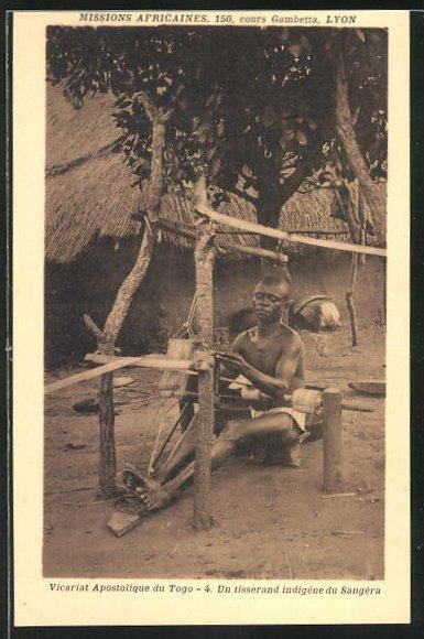 AK Togo, Vicariat Apostolique, un tisserand indigene du Sangera