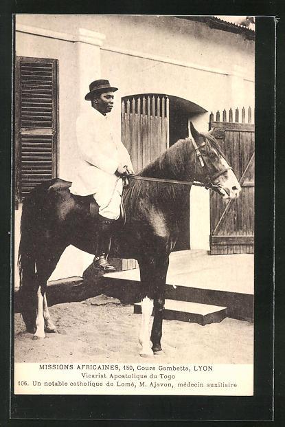 AK Lomé, Un notable catholique, M. Ajavon, medecin auxiliaire, Missions Africans