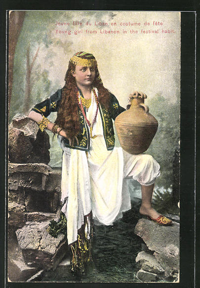 AK Libanon, Young girl in the festival habit