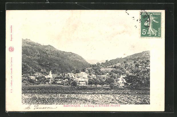 AK Le Bourg de Rivière-Pilote, Panorama