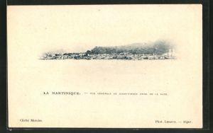 AK La Martinique, Vue Generale de Saint-Pierre prise de la Rade