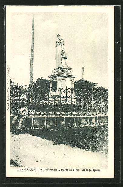 AK Martinique, Fort-de-France, Statue de l'Imperatrice Josephine