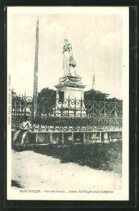 AK Martinique, Fort-de-France, Statue de l'Imperatrice Josephine