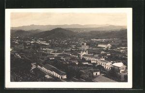 AK Teguicigazpa, Ortsansicht mit Bergen im Hintergrund