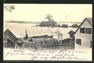 AK Monrovia, Partie am Fluss
