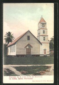 AK La Ceiba, Iglesia Parroquial, Ansicht der Kirche