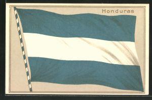 Präge-AK Honduras, Nationalfahne des Landes