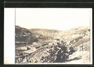 Foto-AK Amman, Blick auf einen Teil der Stadt, 1918
