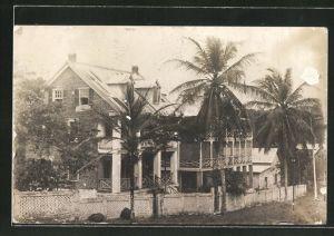 AK Monrovia, Haus und Palmen