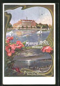 AK Durban, Marine Hotel, Moonlight View from Hotel Balcony