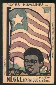 AK Liberia, Races Humaines, Négre d'Afrique