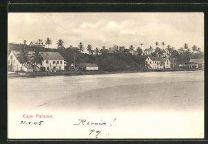 AK Cape Palmas, Wohnhäuser vom anderen Flussufer aus