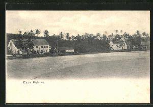 AK Cape Palmas, Stadtblick mit Flusspartie