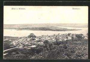 AK Krutown / Krootown, Blick auf die Ortschaft